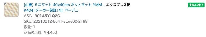 [山善] ミニマット 40×40cm ホットマット YMM-K404 [メーカー保証1年] ベージュ